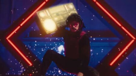 Boombox photo of Dr Disrespect in Gamerobics music video