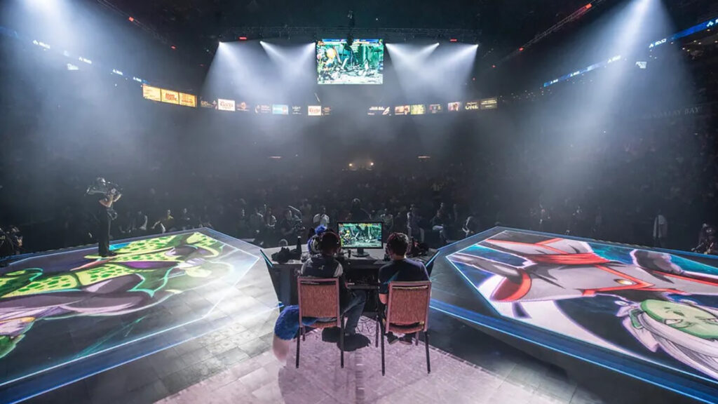 Photo of main stage during Evo 2019