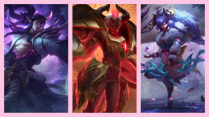 League of Legends, Spirit Blossom Thresh, Spirit Blossom Kindred, Arcana Xerath