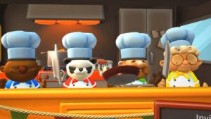 4 chef lobby in Overcooked! 2