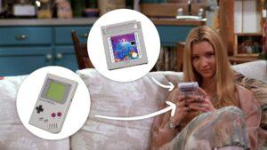 Friends TV Show, Lisa Kudrow, Phoebe Buffay, Tetris, Nintendo Game Boy