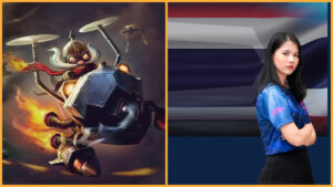 League of Legends champion Corki and Space Gamer Kallyx mid laner Namhom
