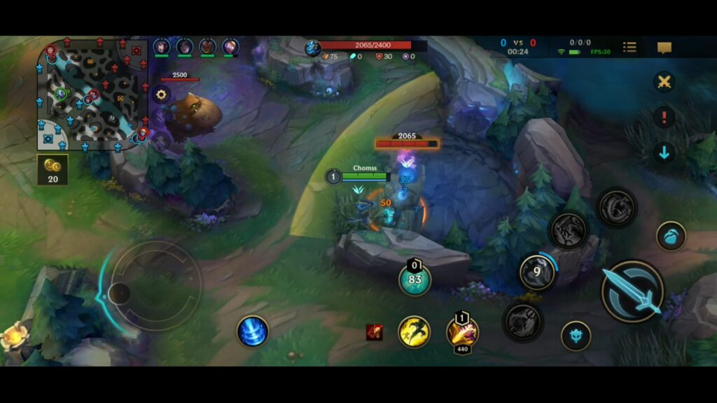 Jungle Fizz in League of Legends: Wild Rift played by Chomss on YouTube