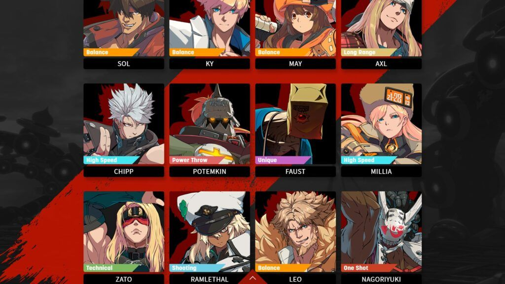 Character Page of the Guilty Gear Strive website