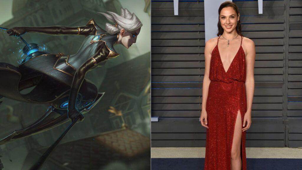 League of Legends, Camille, Gal Gadot, Crime City Nightmare concept