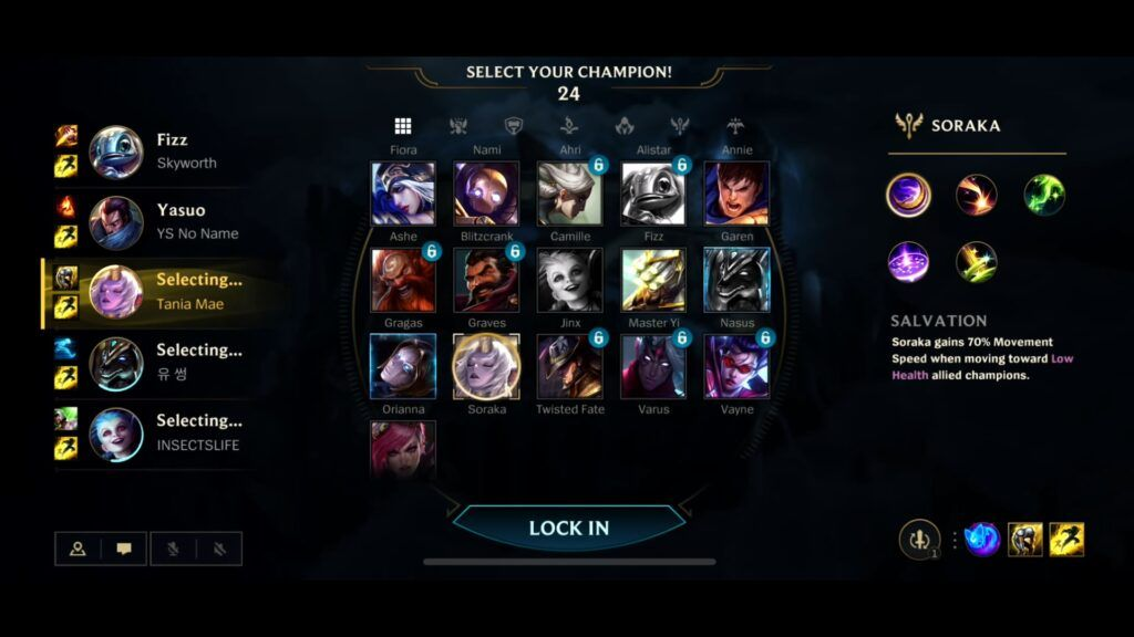 Champion Select in Wild Rift